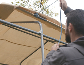 How to set up a portable shelter